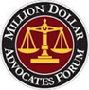 Logo Recognizing Max Meyers Law PLLC's affiliation with the Million Dollar Advocates Forum