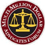 Logo Recognizing Max Meyers Law PLLC's affiliation with the Multi-Million Dollar Advocates Forum